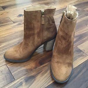Franco Sarto Brown Suede Boots